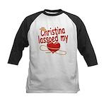 Christina Lassoed My Heart Kids Baseball Jersey