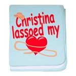 Christina Lassoed My Heart baby blanket