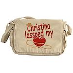 Christina Lassoed My Heart Messenger Bag