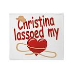 Christina Lassoed My Heart Throw Blanket