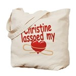 Christine Lassoed My Heart Tote Bag