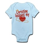 Christine Lassoed My Heart Infant Bodysuit