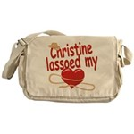 Christine Lassoed My Heart Messenger Bag