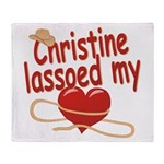 Christine Lassoed My Heart Throw Blanket
