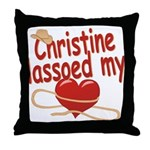 Christine Lassoed My Heart Throw Pillow