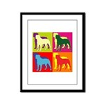 Rottweiler Silhouette Pop Art Framed Panel Print