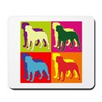 Rottweiler Silhouette Pop Art Mousepad