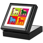 Rottweiler Silhouette Pop Art Keepsake Box