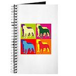 Rottweiler Silhouette Pop Art Journal