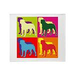 Rottweiler Silhouette Pop Art Throw Blanket