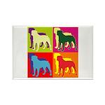 Rottweiler Silhouette Pop Art Rectangle Magnet (10