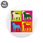 Rottweiler Silhouette Pop Art 3.5