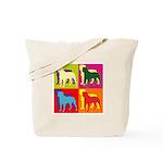 Rottweiler Silhouette Pop Art Tote Bag