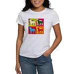 Rottweiler Silhouette Pop Art Women's T-Shirt