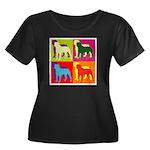 Rottweiler Silhouette Pop Art Women's Plus Size Sc