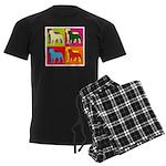 Rottweiler Silhouette Pop Art Men's Dark Pajamas