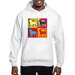 Rottweiler Silhouette Pop Art Hooded Sweatshirt