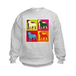 Rottweiler Silhouette Pop Art Kids Sweatshirt