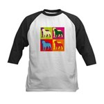 Rottweiler Silhouette Pop Art Kids Baseball Jersey
