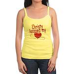 Christy Lassoed My Heart Jr. Spaghetti Tank