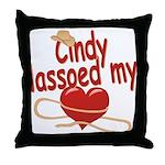 Cindy Lassoed My Heart Throw Pillow