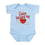 Claire Lassoed My Heart Infant Bodysuit