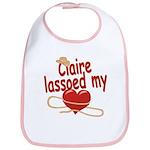 Claire Lassoed My Heart Bib