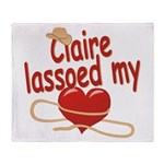 Claire Lassoed My Heart Throw Blanket