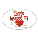 Connie Lassoed My Heart Sticker (Oval)