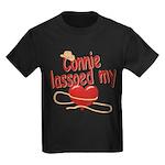 Connie Lassoed My Heart Kids Dark T-Shirt