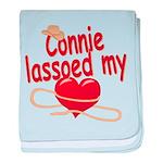 Connie Lassoed My Heart baby blanket