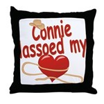Connie Lassoed My Heart Throw Pillow