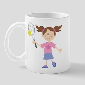 Girls Tennis Player Mug