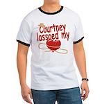 Courtney Lassoed My Heart Ringer T