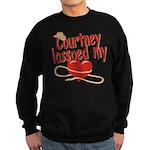 Courtney Lassoed My Heart Sweatshirt (dark)