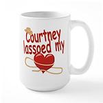 Courtney Lassoed My Heart Large Mug
