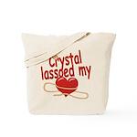 Crystal Lassoed My Heart Tote Bag