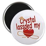 Crystal Lassoed My Heart Magnet
