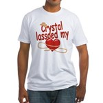 Crystal Lassoed My Heart Fitted T-Shirt