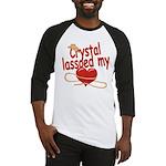 Crystal Lassoed My Heart Baseball Jersey