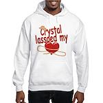 Crystal Lassoed My Heart Hooded Sweatshirt