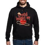 Crystal Lassoed My Heart Hoodie (dark)