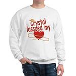 Crystal Lassoed My Heart Sweatshirt