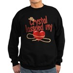 Crystal Lassoed My Heart Sweatshirt (dark)