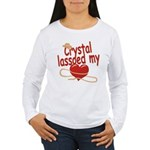 Crystal Lassoed My Heart Women's Long Sleeve T-Shi