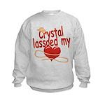 Crystal Lassoed My Heart Kids Sweatshirt