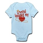 Crystal Lassoed My Heart Infant Bodysuit