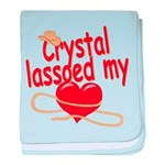 Crystal Lassoed My Heart baby blanket