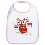 Crystal Lassoed My Heart Bib