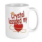 Crystal Lassoed My Heart Large Mug